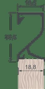 Perfil Puxador 4018T Jateado Anodizado com 6,0m