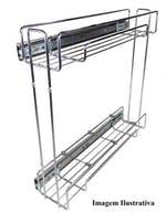 Porta Latas Deslizante Lateral R1 Inox 125 x 440 x 450mm