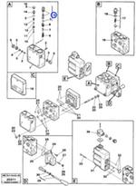 Bujão da Válvula de Alívio da Direção - SDLG - 11996181 - Unitário