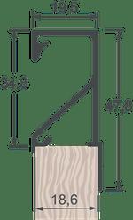Perfil Puxador 7018T Inox Escovado com 6,0m