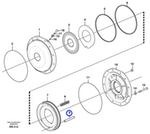 Eixo do Freio do Estacionamento - Volvo CE - 11037581 - Unitário