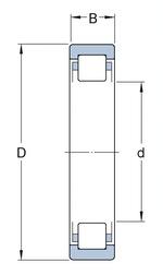 Rolamento de rolos cilíndricos - SKF - NUP 207 ECJ - Unitário