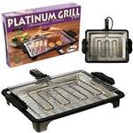 Churrasqueira Elétrica Platinum Grill Plus Preta 1700W 127 - ANURB - 434 - Unitário