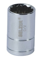 """Soquete de Encaixe 3/4"""" com Perfil Estriado de 46mm - Belzer - 206011BR - Unitário"""