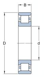 Rolamento de rolos cilíndricos - SKF - N 311 ECM/P63 - Unitário