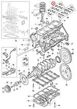 Par De Bronzina Central De Mancal Std - Original Chevrolet - 93339702 - Unitário