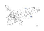 Eixo do Sistema Hidráulico - Volvo CE - 11038380 - Unitário
