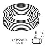 Tubo flexível. 5.000 mm de comprimento. 8 x 6 mm - SKF - LAPT 5000 - Unitário