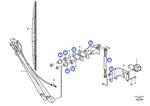 Articulação do Limpador de Para-Brisa - Volvo CE - 11200710 - Unitário