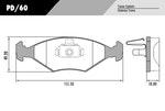 Pastilha de freio - Fras-le - PD/60 - Par