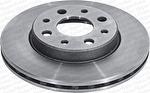 Disco de Freio Ventilado sem Cubo - Hipper Freios - HF 31C - Par