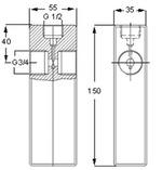 Adaptador para Injetor de Óleo Mapro 226400 - SKF - 1013523 E - Unitário