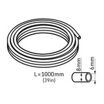Tubo flexível. 1.000 mm de comprimento. 8 x 6 mm - SKF - LAPT 1000 - Unitário