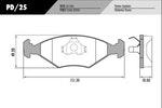 Pastilha de freio - Fras-le - PD/25 - Par