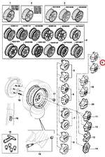 Calota do Centro de Roda - Original Chevrolet - 93246132 - Unitário