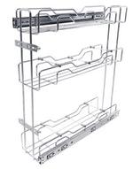 Porta Latas Deslizante Triplo Lateral Cromado 125 x 530 x 450mm