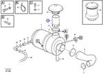 Tubo do Filtro de Ar - Volvo CE - 11110204 - Unitário