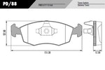 Pastilha de freio - Fras-le - PD/88 - Jogo