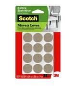 Feltro Sintético 3M Scotch® Marrom - Redondo P - 3M - HB004262687 - Unitário