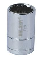 """Soquete de Encaixe 1/2"""" com Perfil Estriado de 14mm - Belzer - 204005BBR - Unitário"""