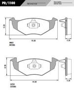 Pastilha de freio - Fras-le - PD/1100 - Par