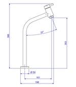 Miniatura imagem do produto Torneira de Mesa Conforto Bica Alta para Lavatório Link Cromado DN15 - Deca - 1198.C.LNK - Unitário