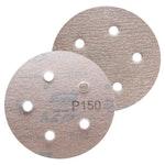 Disco de lixa seco A275 grão 150 127mm c/ 5 furos - Norton - 66261086362 - Unitário