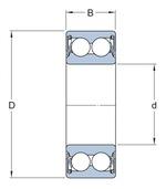 Rolamento de esferas de contato angular - SKF - 3314 A-2ZTN9/C3VT113 - Unitário