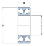 Rolamento de esferas de contato angular - SKF - 7211 BECBJ - Unitário