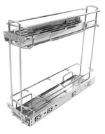 Porta Latas Deslizante Premium 115 com Bandejas Cromado 125 x 425 x 450mm