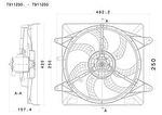 Eletroventilador - Valeo - T911250. - Unitário