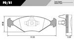 Pastilha de freio - Fras-le - PD/81 - Par