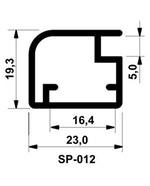 Perfil Montante de Alumínio SP-0012 Fosco Ácido c/3m
