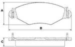 PASTILHA DE FREIO - Maxi Automotive - MPF4250 - Jogo
