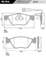 Pastilha de freio - Fras-le - PD/78-A - Jogo
