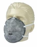 Máscara Descartável sem Válvula 8713 com Carvão Ativado - 3M - HB004119085 - Unitário