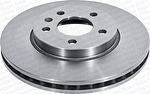 Disco de Freio Ventilado sem Cubo - Hipper Freios - HF 26C - Par