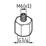 Pino graxeiro G1/4 – M6 - SKF - LAPN 6 - Unitário