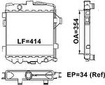 Radiador de Resfriamento - Valeo - TA087003R - Unitário