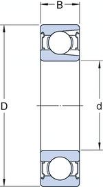 Rolamento Rígido de Esferas - SKF - 308 TN9/C3 - Unitário