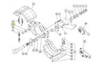 Bucha do Pino de Ancoragem da Sapata de Freio - Freios Master - 1225B496 - Unitário