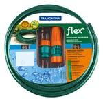 Mangueira 3 Camadas Flex Verde PVC com Engates Rosqueados e Esguicho - 25 metros - Tramontina - 79172250 - Unitário