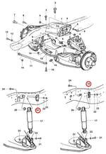 Suporte superior do amortecedor dianteiro interno le/ld - Original Chevrolet - 52257583 - Unitário