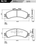 Pastilha de freio - Fras-le - PD/110 - Par
