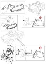 Espelho Retrovisor Externo Lado Direito C/ Controle Manual Preto - Original Chevrolet - 93231916 - Unitário