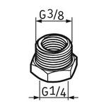 Pino graxeiro G1/4 – G3/8 - SKF - LAPN 3/8 - Unitário