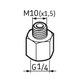 Miniatura imagem do produto Pino graxeiro G1/4 – M10 - SKF - LAPN 10 - Unitário