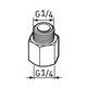 Miniatura imagem do produto Pino graxeiro G1/4 – G1/4 - SKF - LAPN 1/4 - Unitário