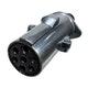Miniatura imagem do produto Tomada de Engate Macho (Móvel) Redonda 7 Polos Polarizada em Alumínio - DNI - DNI 8323 - Unitário