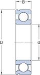 Miniatura imagem do produto Rolamento Câmbio Eixo Secundário. Intermediário e da Caixa de Tranferência - SKF - 6306 NR - Unitário